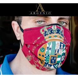 Mascherina Regno Due Sicilie Rosso - Argenio Napoli