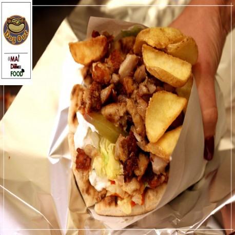 Tortillas con Kebab Menu -...